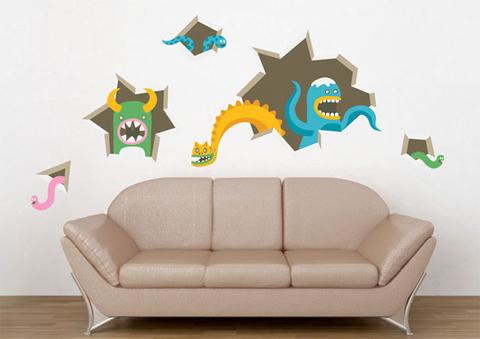 Виниловые наклейки на стены для интерьеров