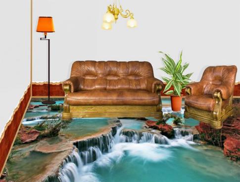 Наливные полы в квартире 3d