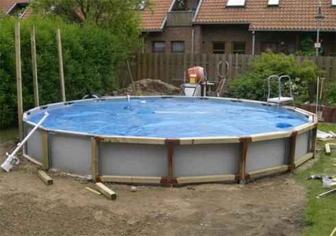 каркасный бассейн своими руками на фото