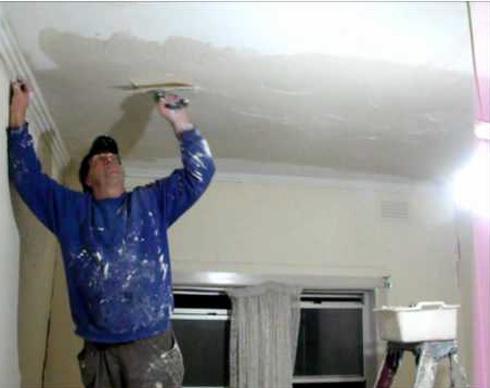 Шпаклевка потолок из гипсокартона своими руками видео