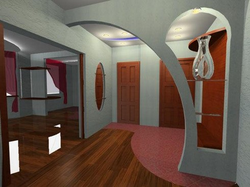 Дизайн перегородок и арки фото