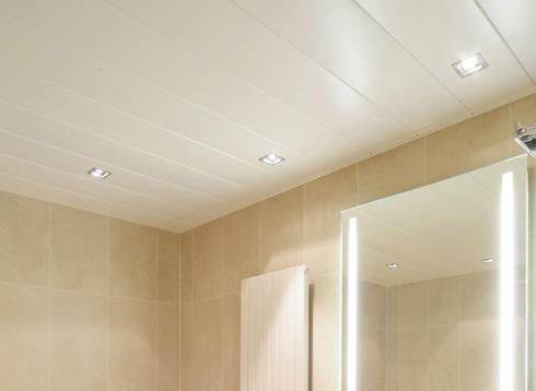 монтаж пластиковых панелей на потолок