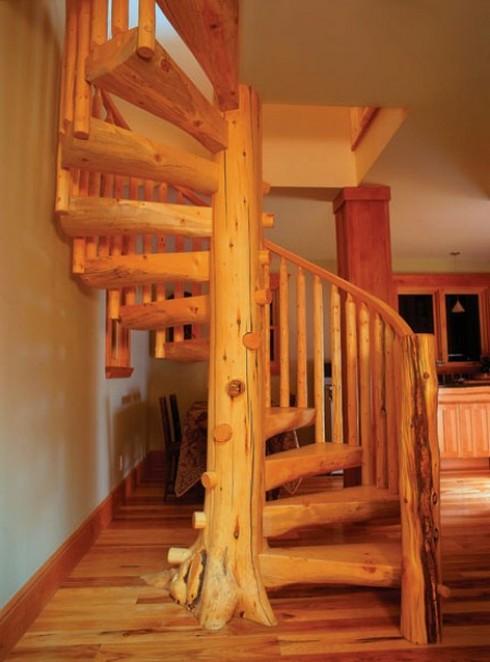 Лестница на второй этаж для дачи своими руками фото