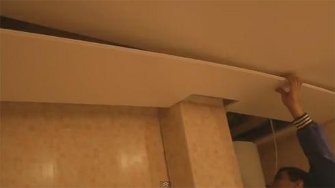 установка пвх панелей на потолок