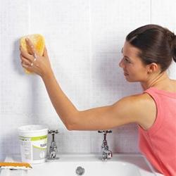 убрать плесень и грибок в ванной комнате