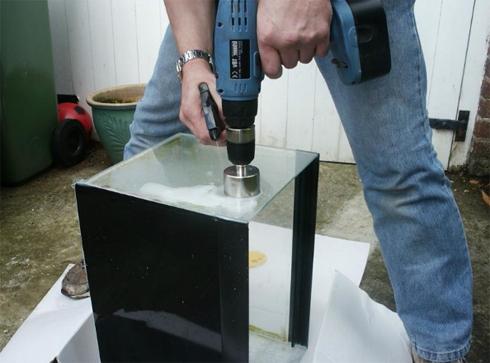 как правильно сверлить стекло
