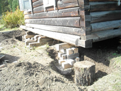 способы подняти деревянного дома