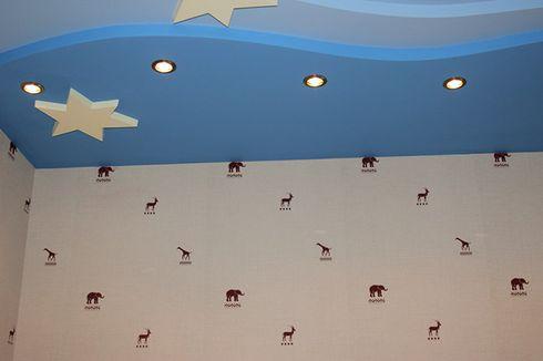 на фото потолки из гипсокартона с подсветкой