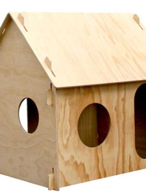 Видео как сделать домик из фанеры своими руками