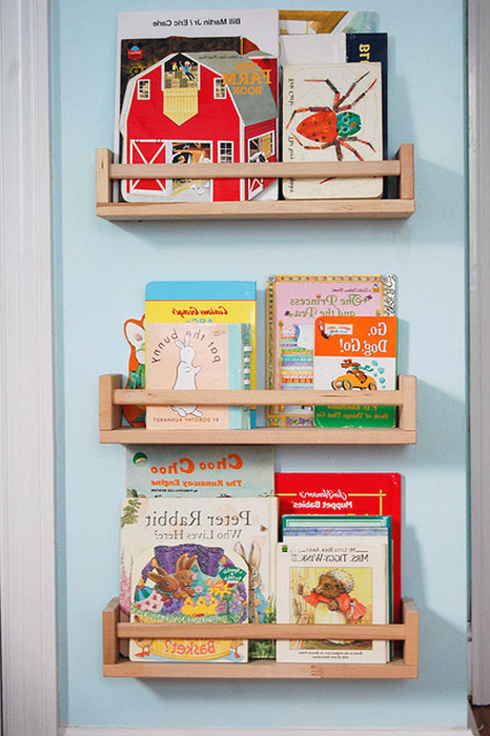 Детские книжные стеллажи своими руками