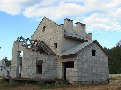 Дом из шлакобетона