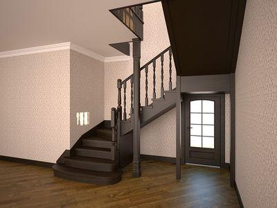 П-образная лестница на второй этаж своими руками 30