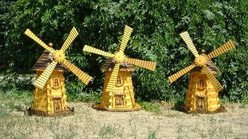 Декоративная мельница для сада своими