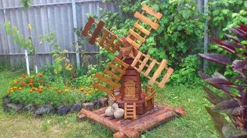 мастер класс мельница для сада своими руками