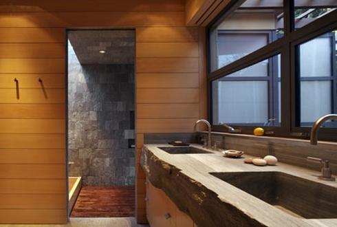 Плитка на пол в деревянном доме