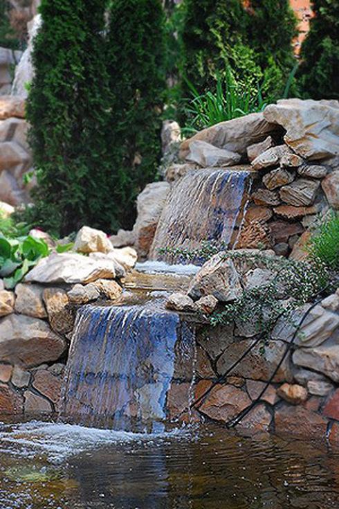 Водопад на даче пошагово фото 2