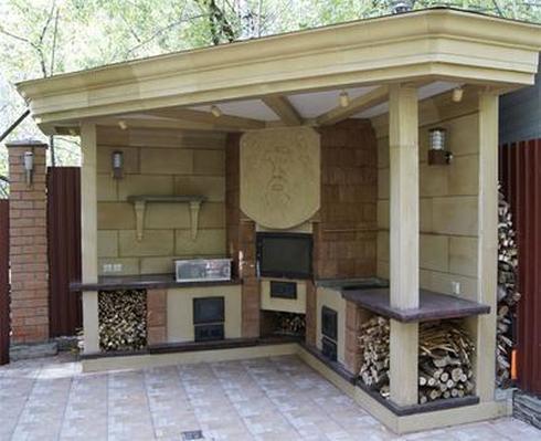 Летняя кухня на даче проекты своими руками