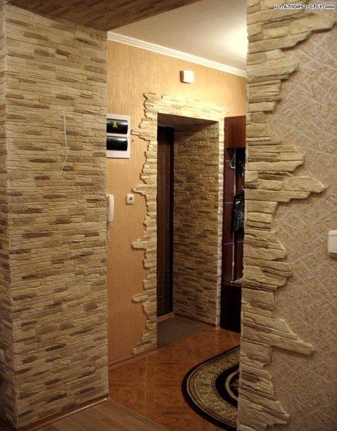 Декорация стен камнем фото