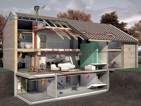 Схема вентиляции в частном доме схема