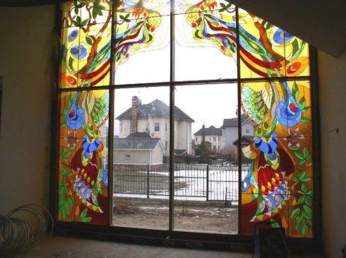 Витраж на окне своими руками в домашних условиях