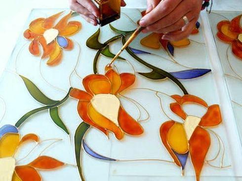 Поделки из искусственных цветов картины