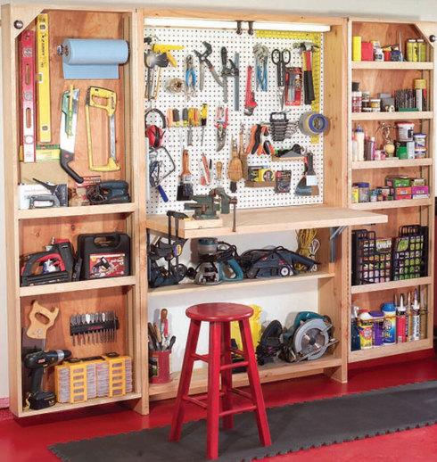 Шкафы своими руками в гараже