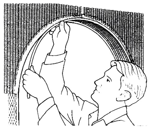 Как приклеить уголок на арку