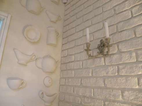Как сделать декоративные кирпичики на стену
