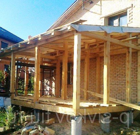 Как построить террасу к дому своими руками видео