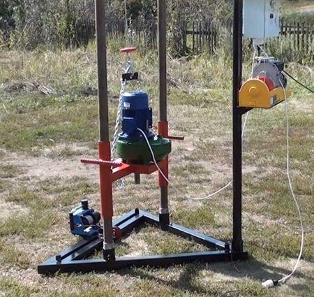 Как сделать своими руками буровой установки на воду