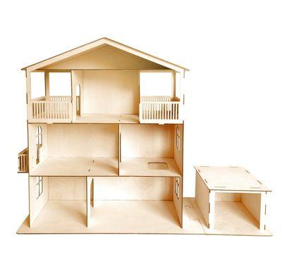 Инструкция как сделать кукольный домик из фанеры